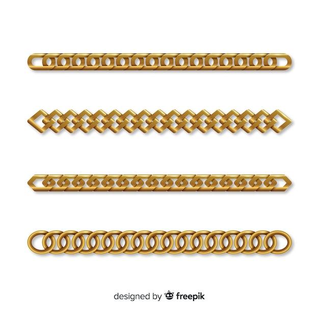 Kolekcja łańcuchów Darmowych Wektorów
