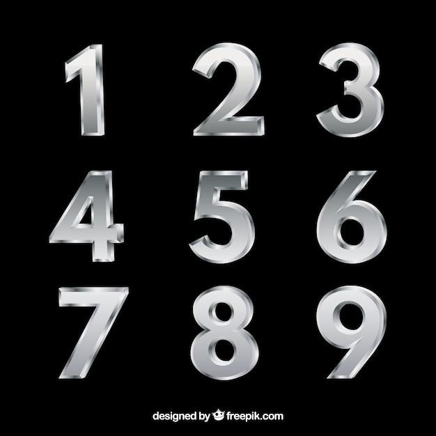 Kolekcja Liczb Srebrnych Darmowych Wektorów