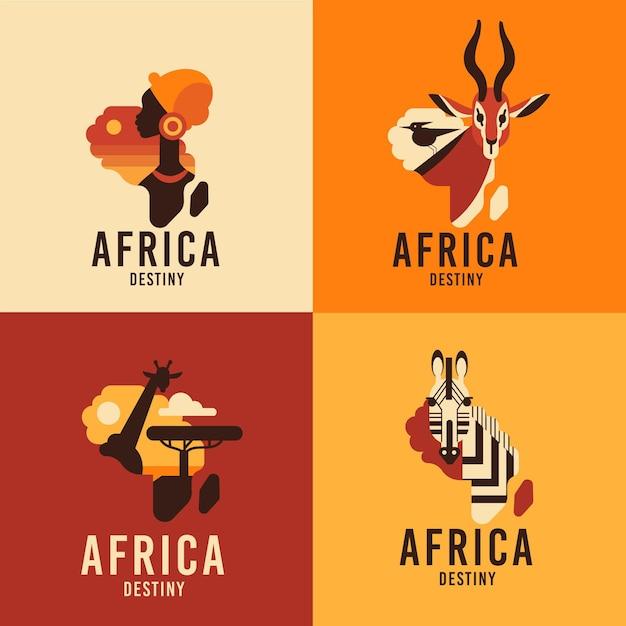 Kolekcja Logo Afryki Darmowych Wektorów