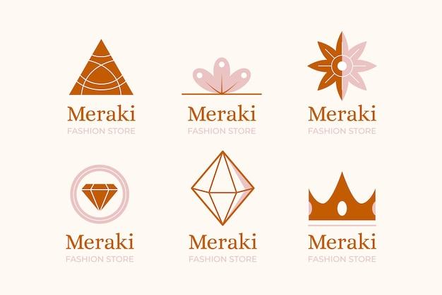 Kolekcja Logo Akcesoriów Mody Premium Wektorów