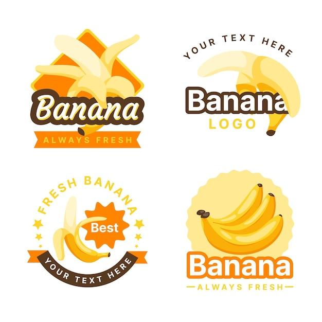 Kolekcja Logo Bananów Darmowych Wektorów