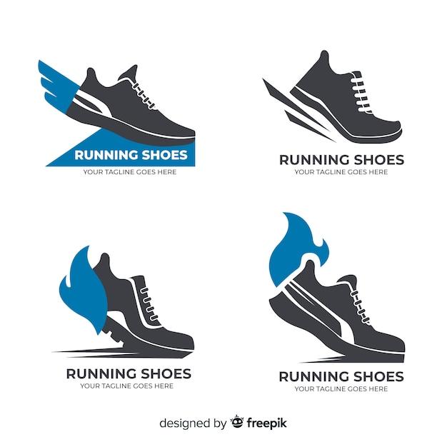 Kolekcja logo buty do biegania Darmowych Wektorów