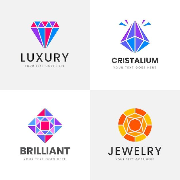 Kolekcja Logo Diamentów Premium Wektorów