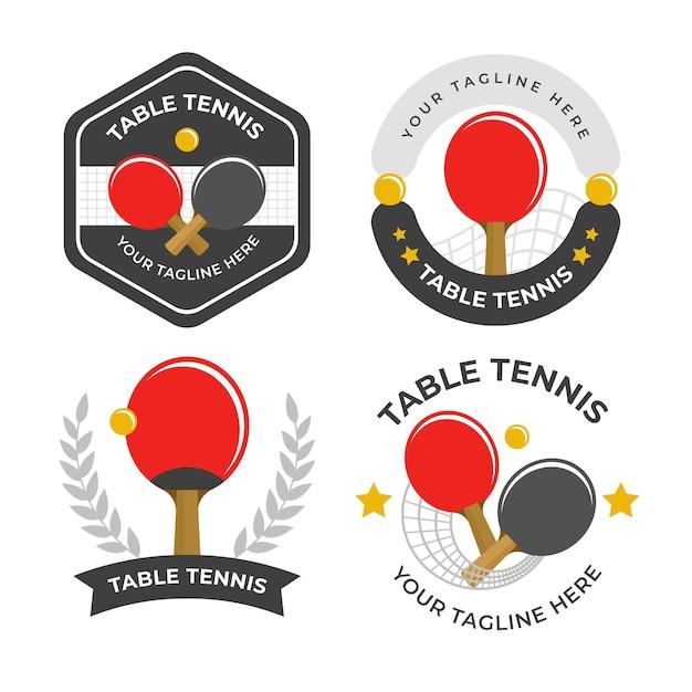 Kolekcja Logo Do Tenisa Stołowego Darmowych Wektorów