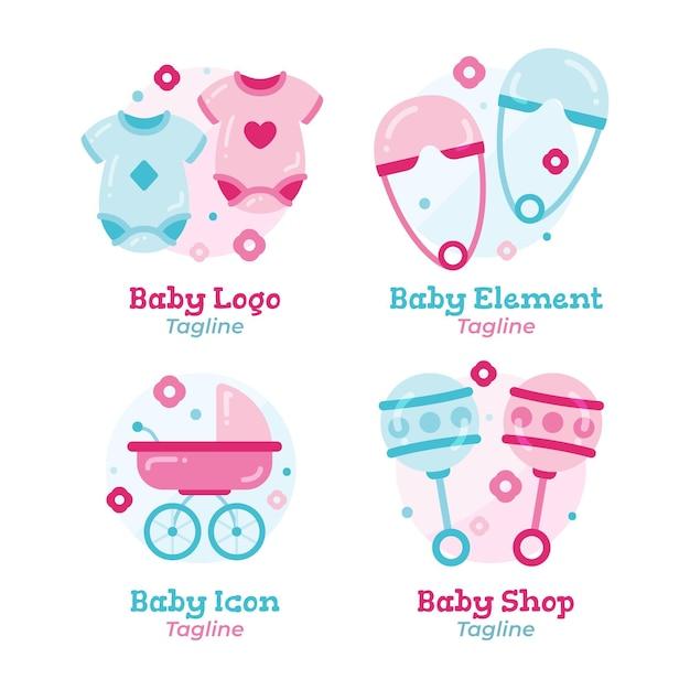 Kolekcja Logo Dziecka Darmowych Wektorów