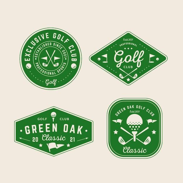 Kolekcja Logo Golfa W Stylu Vintage Darmowych Wektorów