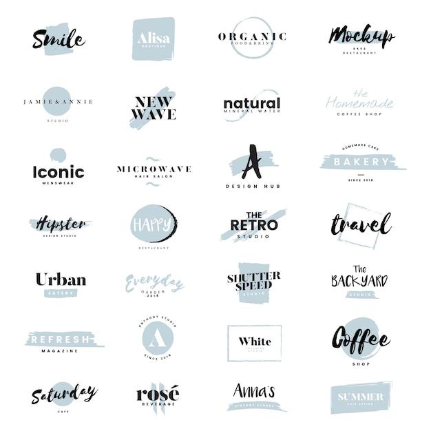 Kolekcja logo i wektor marki Darmowych Wektorów