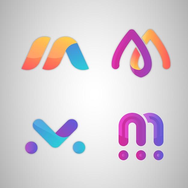 Kolekcja Logo M. Premium Wektorów