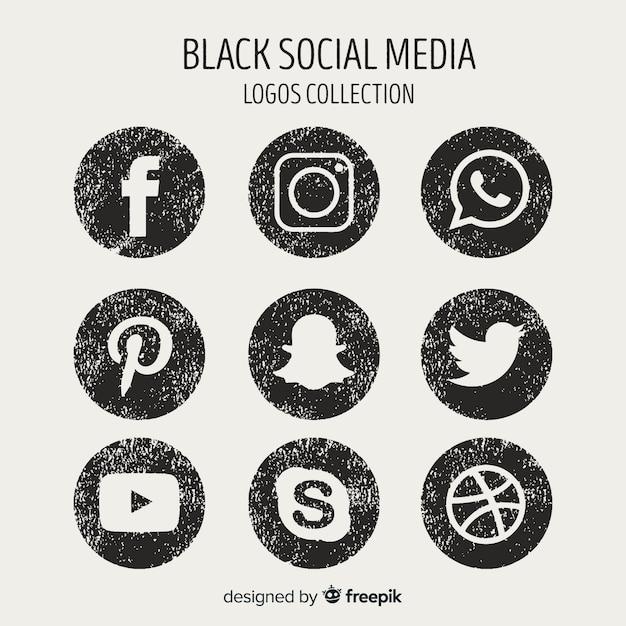Kolekcja logo mediów społecznościowych Darmowych Wektorów