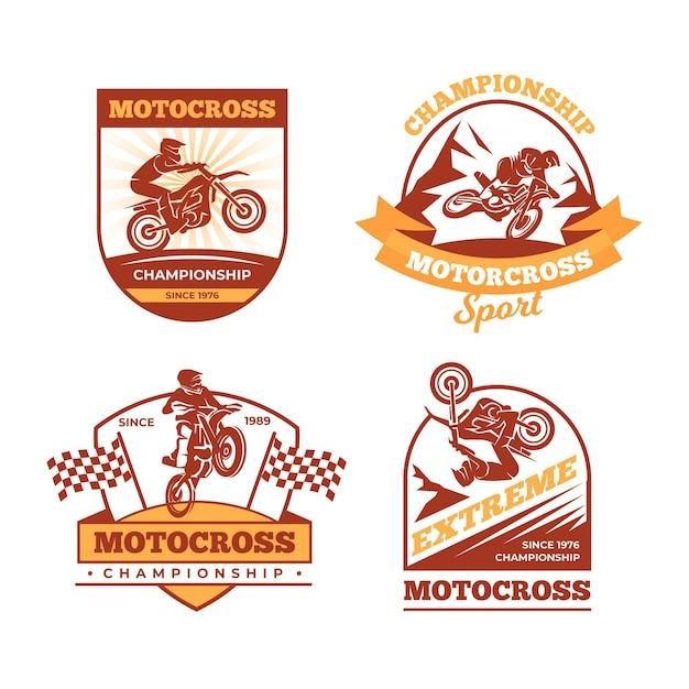 Kolekcja Logo Motocross Darmowych Wektorów
