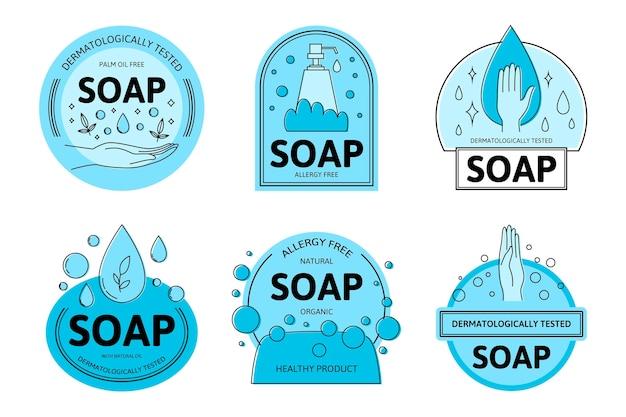 Kolekcja Logo Mydła Darmowych Wektorów