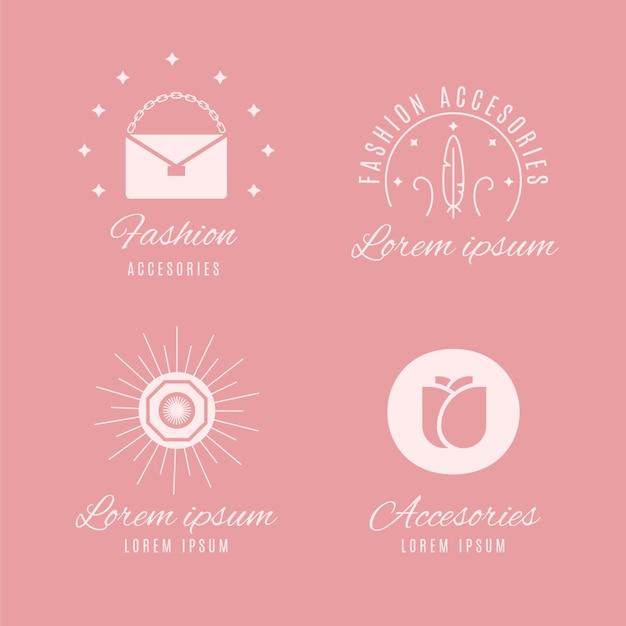 Kolekcja Logo Płaskie Akcesoria Mody Darmowych Wektorów
