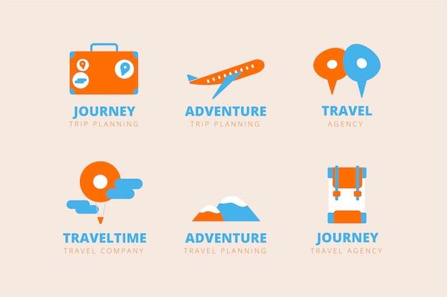Kolekcja Logo Podróży Darmowych Wektorów