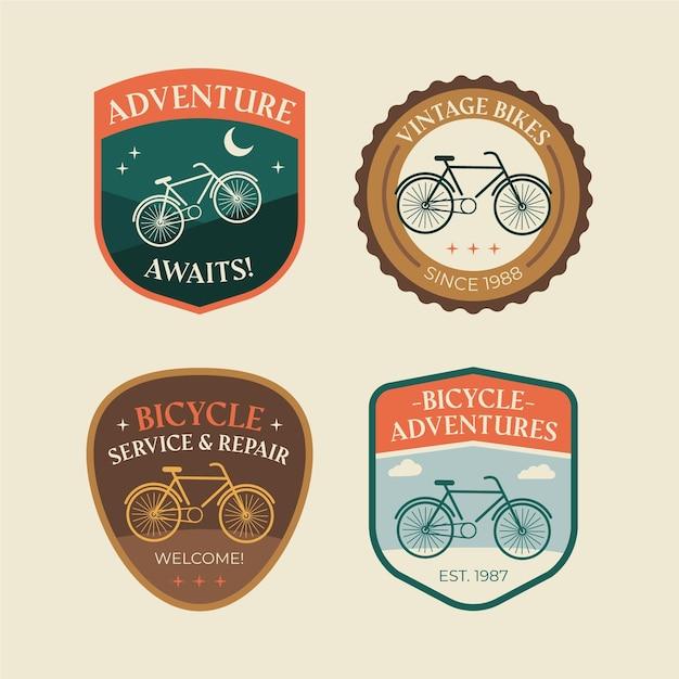 Kolekcja Logo Rocznika Roweru Darmowych Wektorów