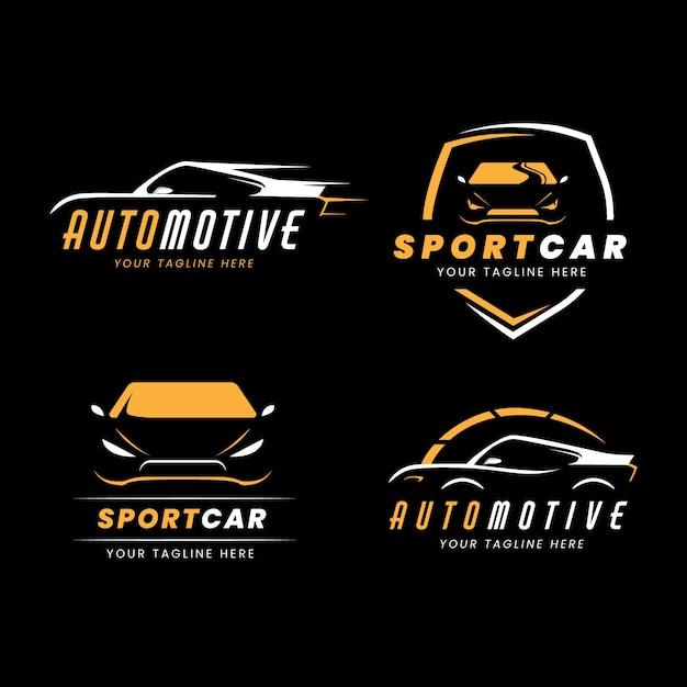 Kolekcja Logo Samochodu Płaskiego Premium Wektorów