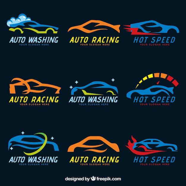 Kolekcja Logo Samochodu Darmowych Wektorów