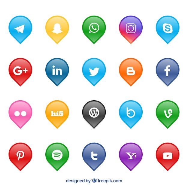 Kolekcja Logo Sieci Społecznych Darmowych Wektorów