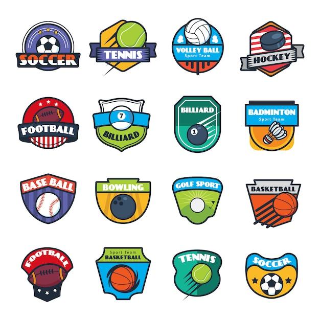Kolekcja logo sportu Darmowych Wektorów