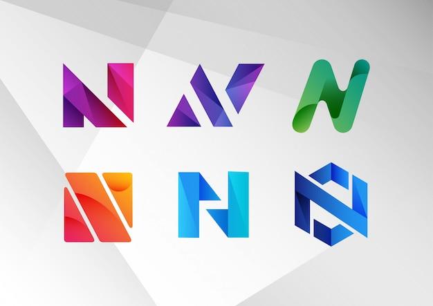 Kolekcja logo streszczenie gradientu n. Premium Wektorów