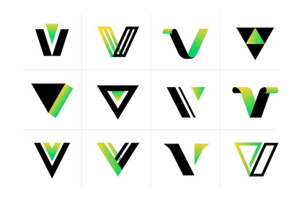 Kolekcja Logo V. Darmowych Wektorów