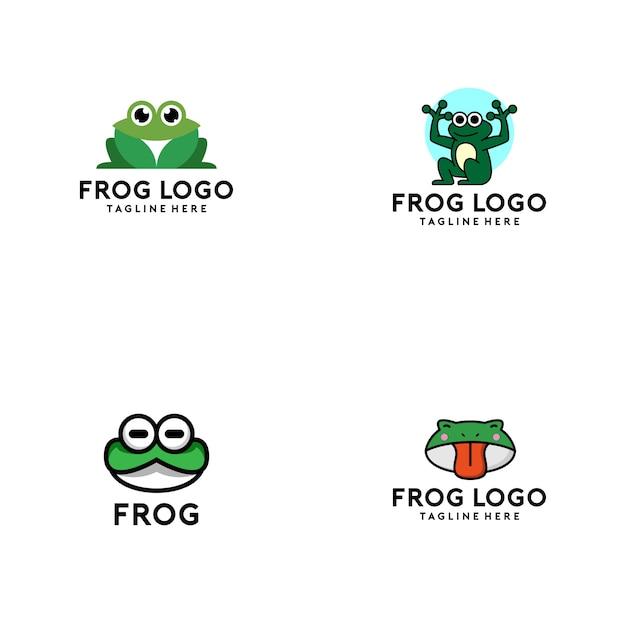 Kolekcja logo żaba Premium Wektorów