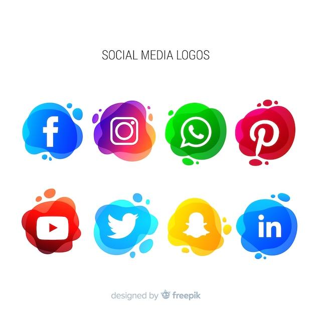 Kolekcja Logotypów Mediów Społecznościowych Premium Wektorów