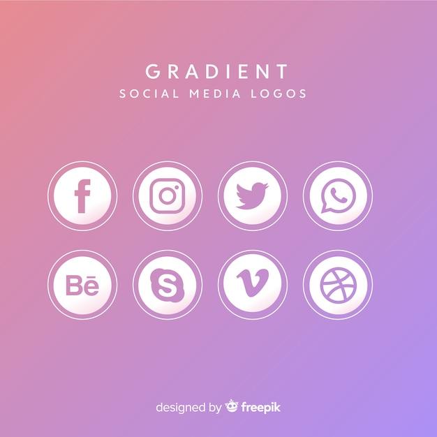 Kolekcja logotypów mediów społecznościowych Darmowych Wektorów