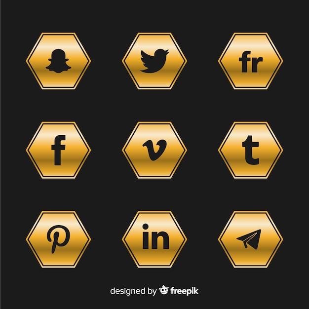 Kolekcja Luksusowych Logo Mediów Społecznościowych Darmowych Wektorów