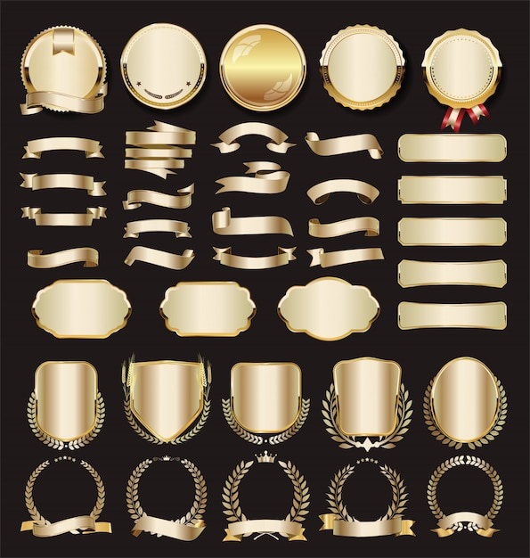 Kolekcja luksusowych złotych Premium Wektorów