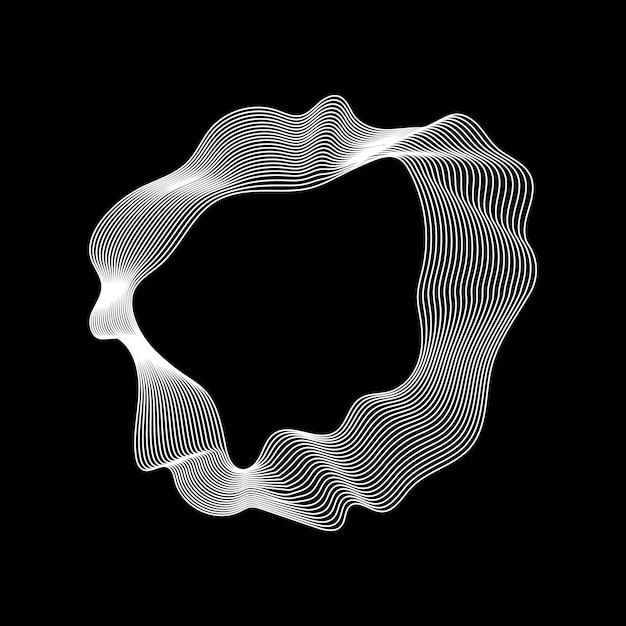 Kolekcja monochromatyczne streszczenie linii konturu Darmowych Wektorów