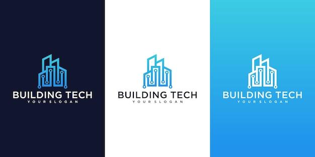 Kolekcja Nowoczesnych Logo Budynków Premium Wektorów