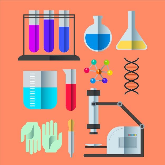 Kolekcja Obiektów Laboratorium Naukowego Darmowych Wektorów