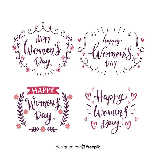 Kolekcja odznak na dzień kobiet Darmowych Wektorów
