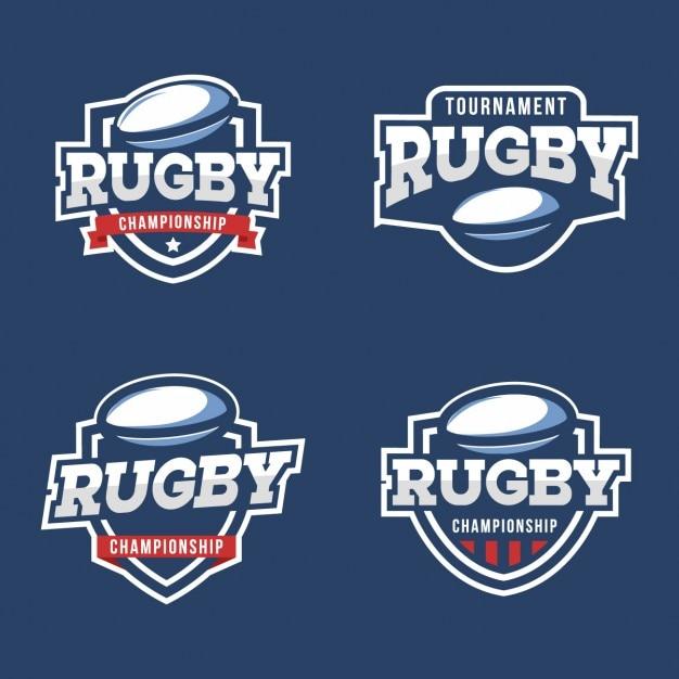 Kolekcja Odznak Rugby Darmowych Wektorów