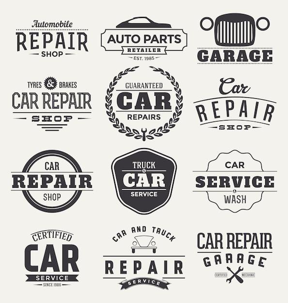 Kolekcja Odznak Samochodów Darmowych Wektorów