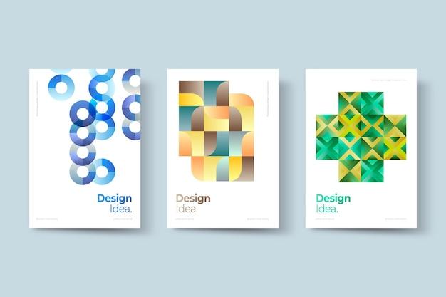 Kolekcja Okładek Biznesowych Geometryczne Darmowych Wektorów