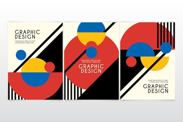 Kolekcja Okładek Projektów Graficznych Premium Wektorów