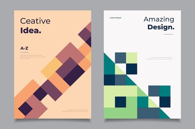Kolekcja Okładek Streszczenie Geometryczny Biznes Darmowych Wektorów