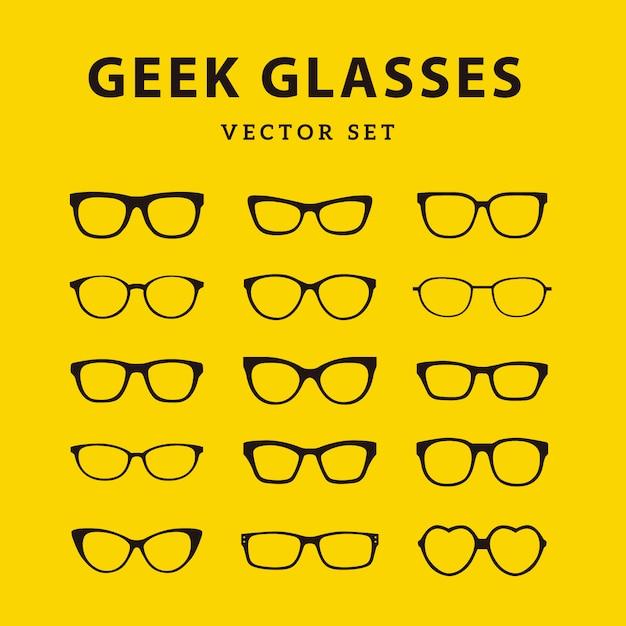 Kolekcja okularów geek Darmowych Wektorów