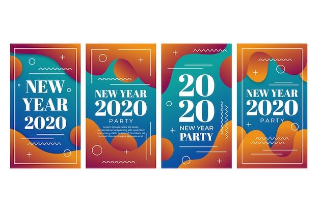 Kolekcja Opowiadań Na Instagramie Nowego Roku 2020 Darmowych Wektorów