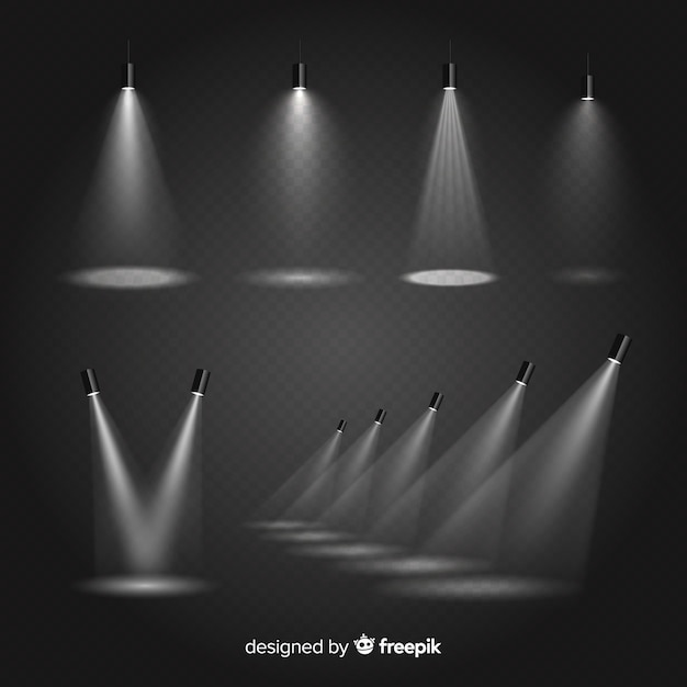 Kolekcja oświetlenia scenicznego Darmowych Wektorów