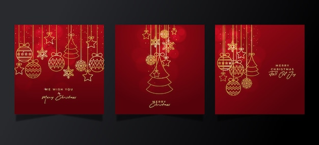 Kolekcja Ozdobnych Kartek świątecznych Darmowych Wektorów
