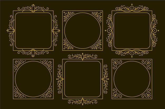 Kolekcja ozdobnych ramek Darmowych Wektorów