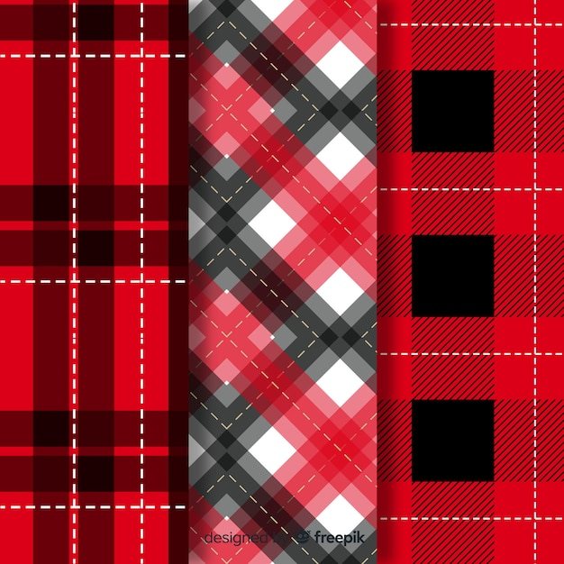 Kolekcja płaska czerwona bawół wzór Darmowych Wektorów