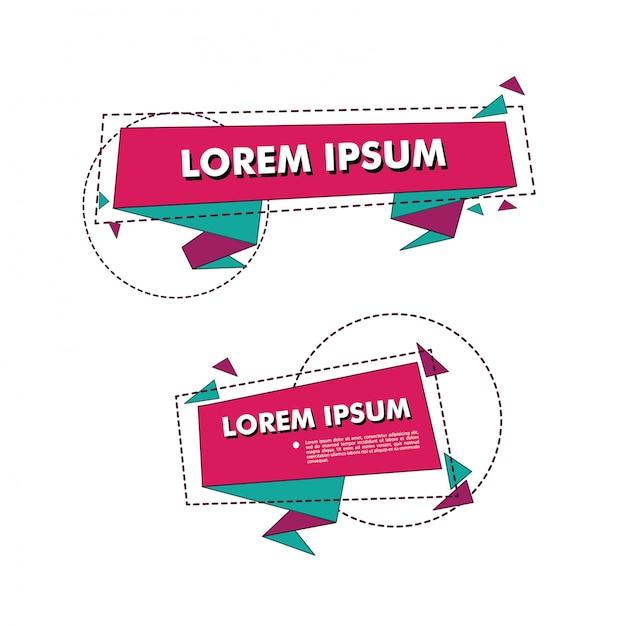 Kolekcja płaska promocja wstążka banner Premium Wektorów