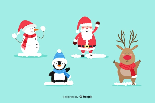 Kolekcja płaskich znaków świątecznych Darmowych Wektorów