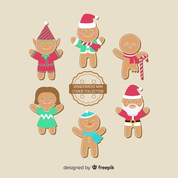 Kolekcja Plików Cookie Piernika Darmowych Wektorów