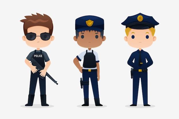 Kolekcja Policji Darmowych Wektorów