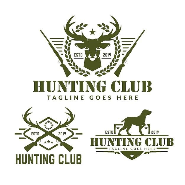 Kolekcja polowania pakiet logo Premium Wektorów