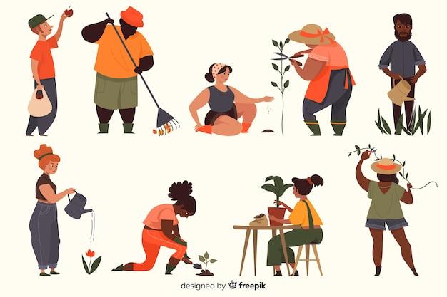 Kolekcja postaci ludzi Darmowych Wektorów